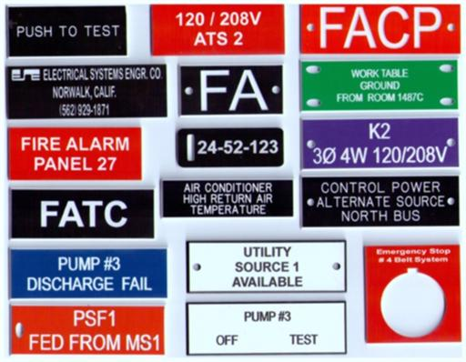 Smith instrument company custom electrical control panel for Electrical panel tags
